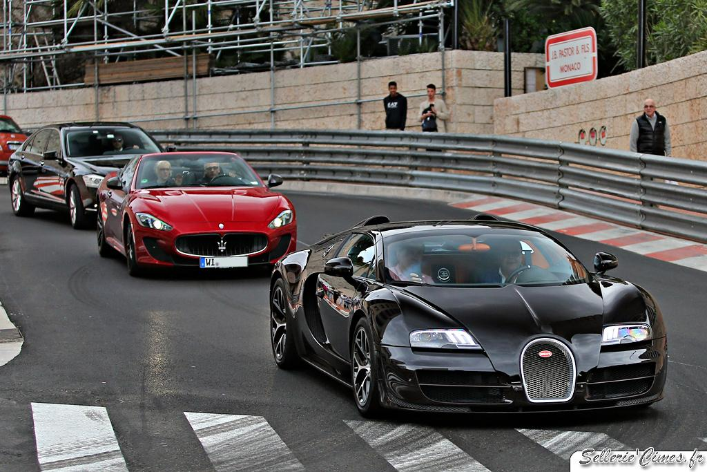Bugatti Veyron Grand Sport Vitesse brown carbon and Maserati Gran Cabrio MC Stradale