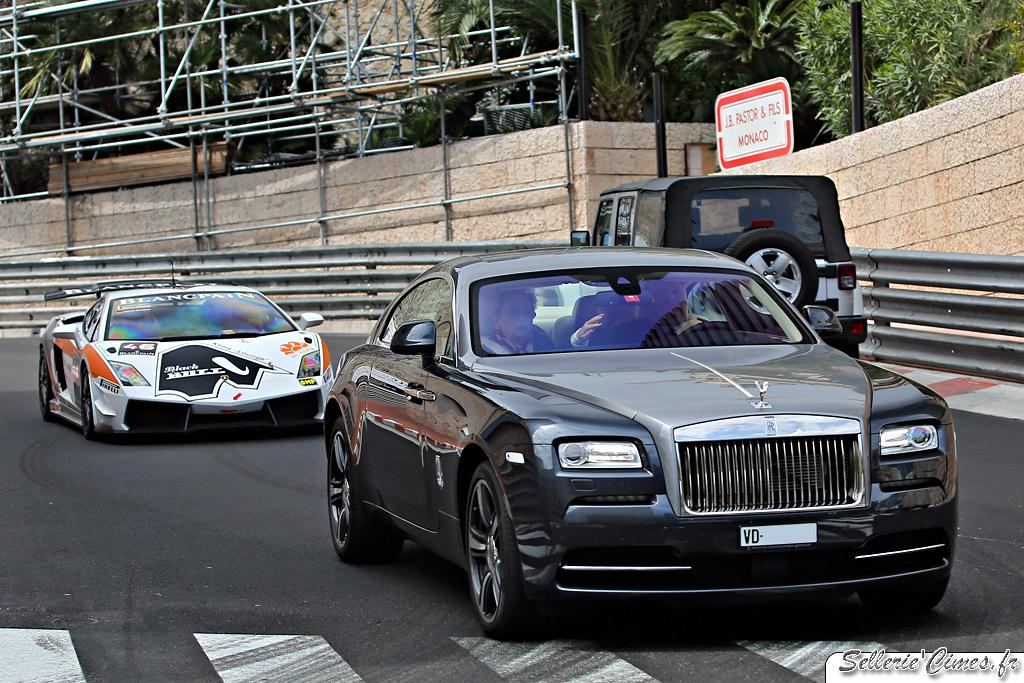 Rolls Royce Wraith 2014 and Lamborghini Gallardo Super Tropheo road legal
