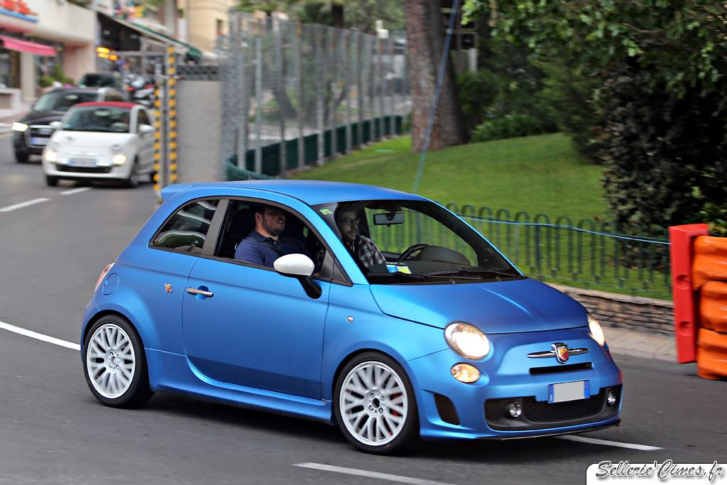 Fiat 500 Abarth Marchettino matte blue
